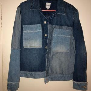Kensie Jeans Large Colorblock Trucker Denim Jacket